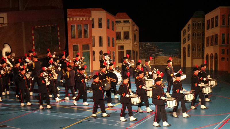 Drumfanfare tijdens voorjaarsconcert 2015