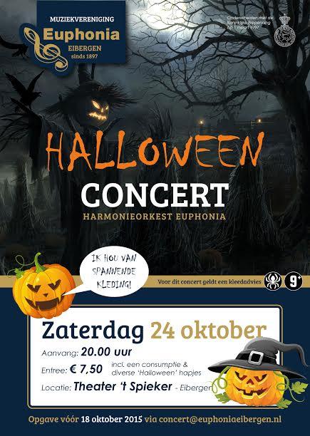 euphonia, muziek, najaarsconcert, griezelen, halloween,
